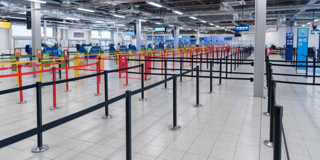 Personenleitsystem Flughafen
