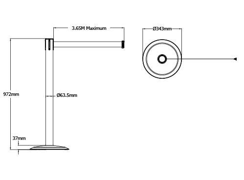Tensabarrier Advance Retractable Belt Barrier Wide Webbing