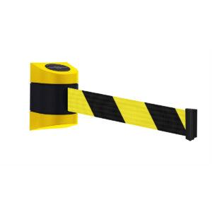 Tensabarrier® 4.6M Retractable Wall Mounted Barrier Yellow Yellow Chevron