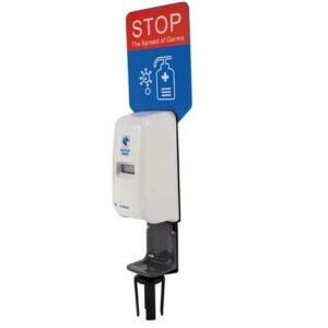 Retractable Barrier Hand Sanitiser Unit