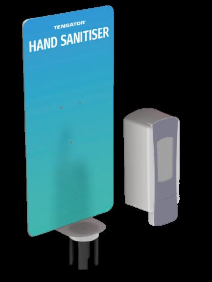 hand sanitiser for queue