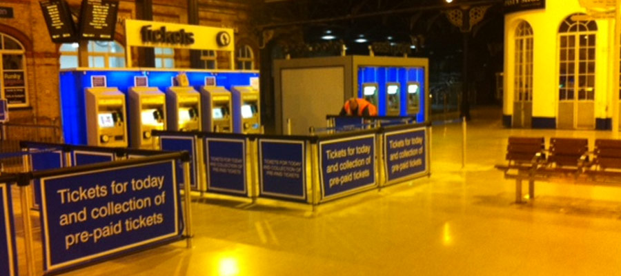 Tensabarrier and banner solutions installed in Brighton Station