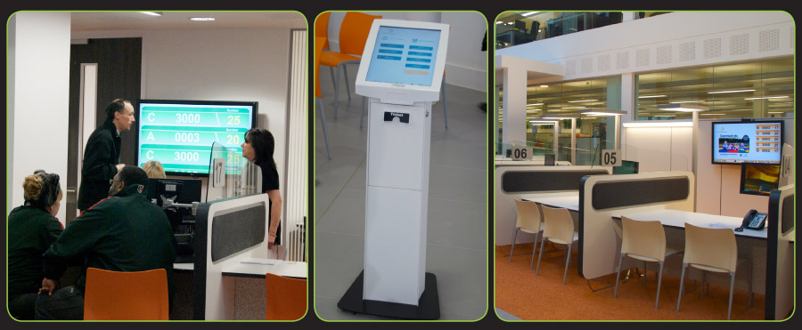Image of Tensator virtual queue management system installed at Derby City Council, VQMS