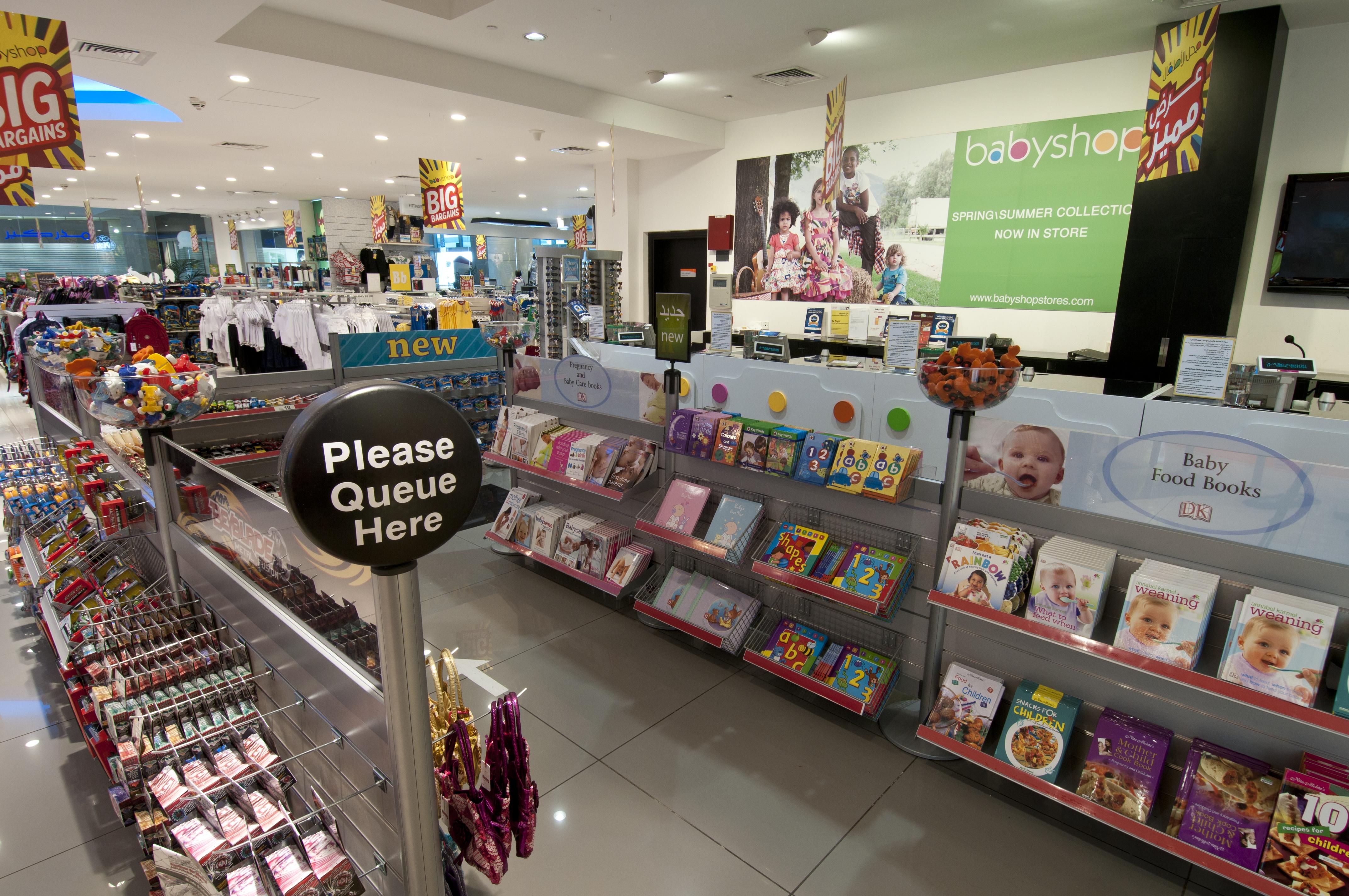 Tensator In-queue merchandising installed in Babyshop Dubai to increase impulse purchases