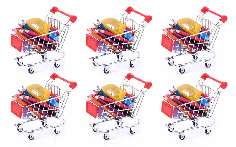 Shopping trolleys, retail customer flow