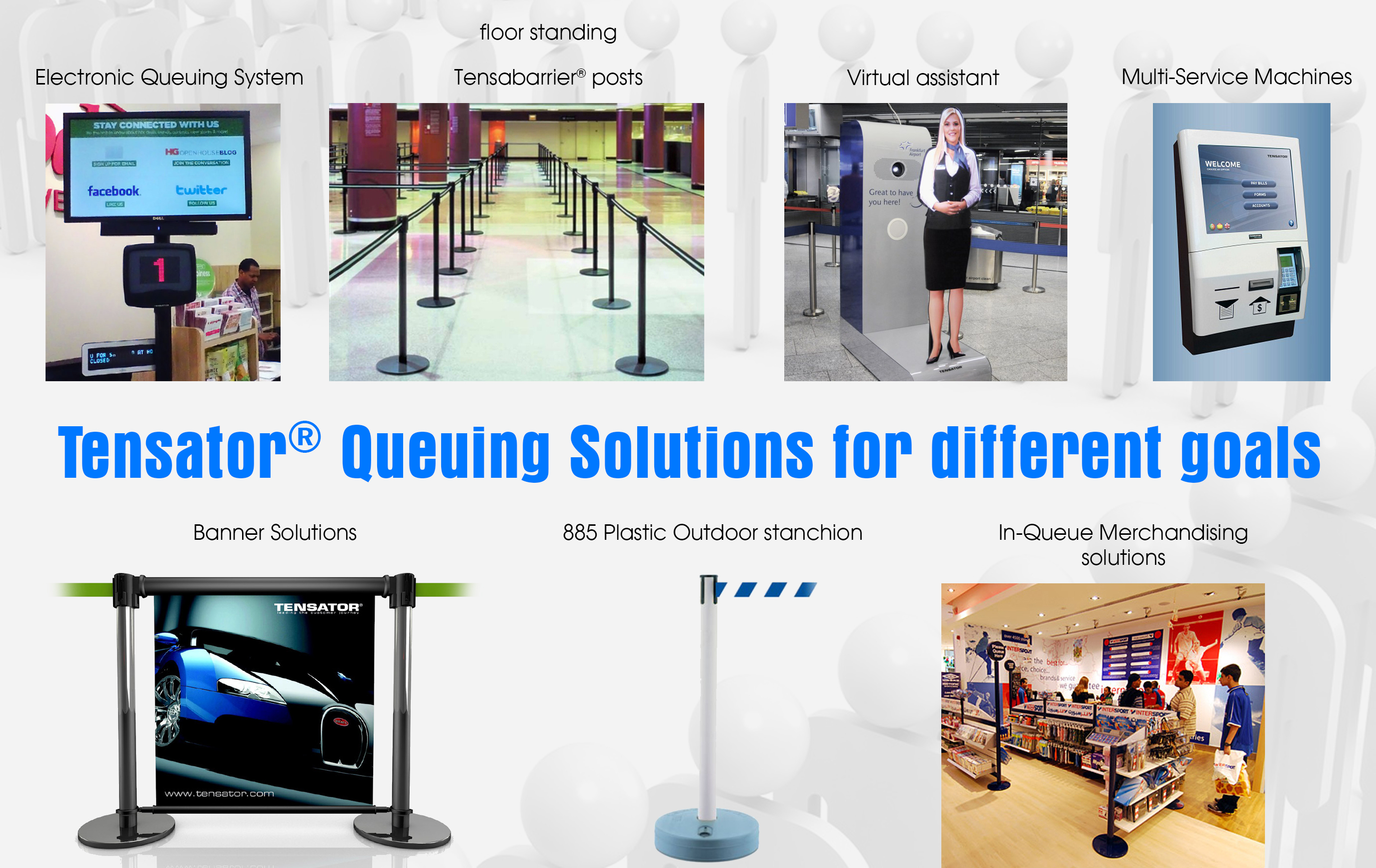 Queuing Solutions for different goals