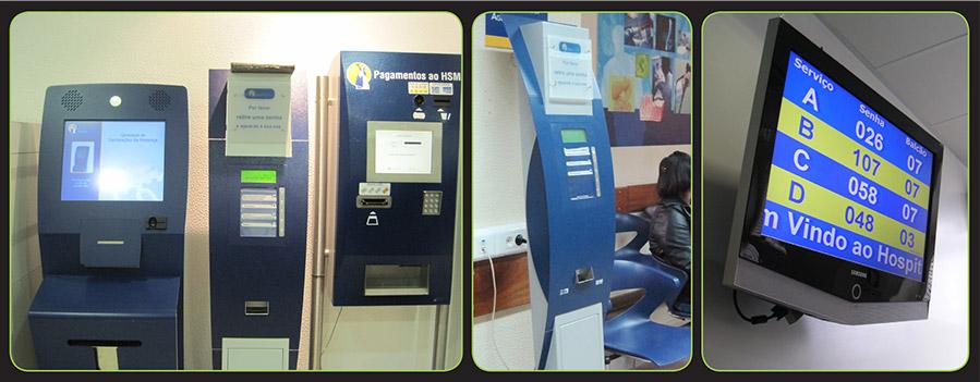 Image showing Tensator's virtual queue management system (VQMS) installed in Santa Maria hospital, Lisbon, Portugal.