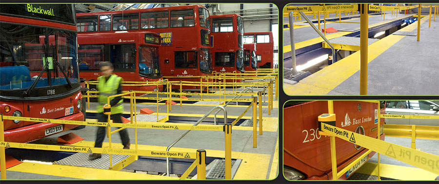 Tensabarrier installation for health and safety at Stagecoach