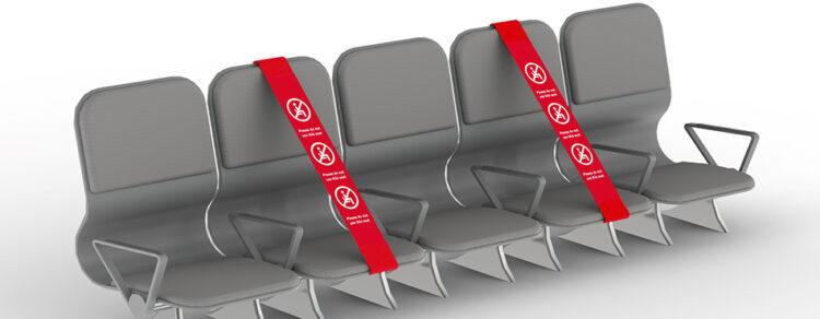 social distancing seat strap