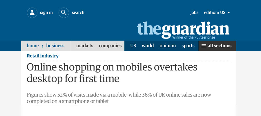 Guardian article about online shopping